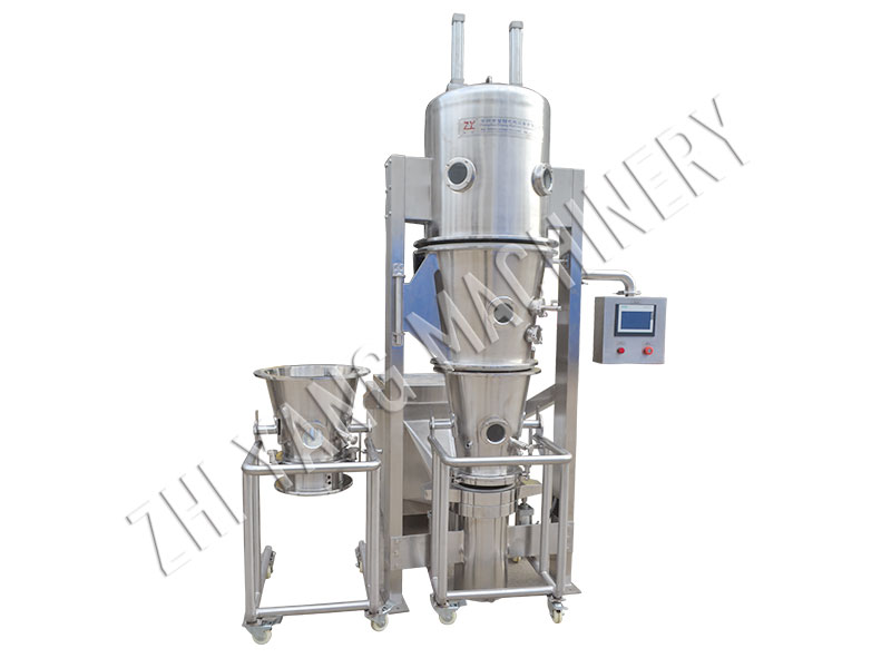 DLP fluidized granulating and coating machine